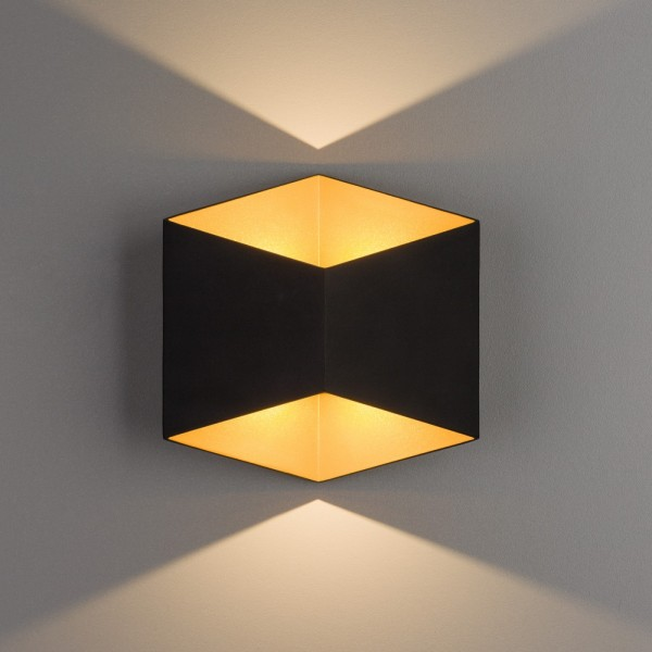 TRIANGLES LED black-gold 8141 Nowodvorski
