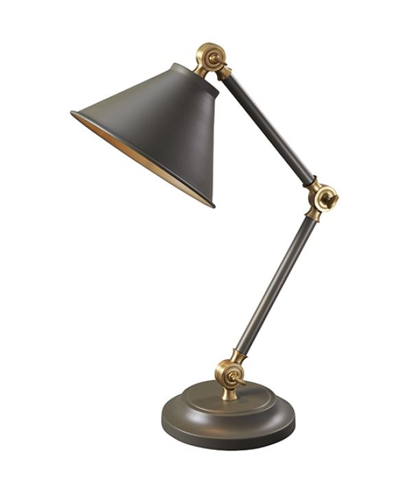 PROVENCE dark grey and aged brass PV ELEMENT GAB Elstead